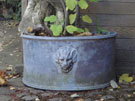 D Shape Lion Planter